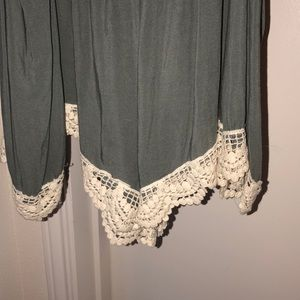 Romper with lace